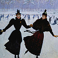 The Skaters Poster by Jean Beraud
