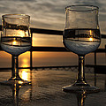 The sky in wine glasses of lovers Poster by Catalina Lira