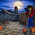 The Spooky Scarecrow Print by Stu Shepherd
