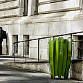 The Story of Him Waiting and a Green Trashcan Print by Joanna Madloch