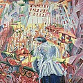The Street Enters the House Print by Umberto Boccioni