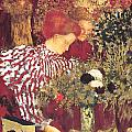 The Striped Blouse Poster by Edouard Vuillard