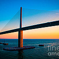 The Sunshine Under the Sunshine Skyway Bridge Print by Rene Triay Photography