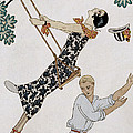The Swing Poster by Georges Barbier