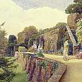 The Terrace at Berkeley Castle Poster by George Samuel Elgood