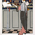The Theorbo Player Print by Georges Barbier