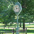 The Town's Clock Poster by Brenda Donko
