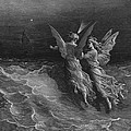 The two fellow spirits of the Spirit of the South Pole ask the question why the ship travels  Poster by Gustave Dore