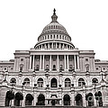 The United States Capitol  Print by Olivier Le Queinec