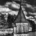 The Valve Tower Mono Print by Steve Purnell