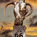 The Warmth of Route 66 Poster by Mike McGlothlen