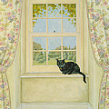 The Window Cat Poster by Ditz