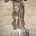 The Winged Victory of Samothrace marble sculpture of the Greek goddess Nike Victory Poster by Gregory Dyer