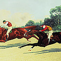 The Winning Post in Sight Print by Henry Stull