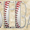 The Word Is BASEBALL Print by Andee Photography