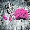 The Zebra Effect 1 Poster by Oddball Art Co by Lizzy Love