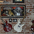 Three Autographed Guitar and Records by famous bands Memorabilia Poster by Renee Anderson