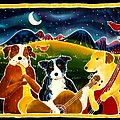 Three Dog Night Print by Harriet Peck Taylor