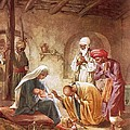 Three kings worship Christ Poster by William Brassey Hole