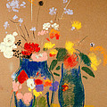 Three Vases of Flowers Poster by Odilon Redon