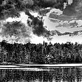 Thunderclouds over Cary Lake Poster by David Patterson