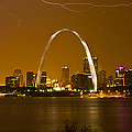 Thunderstorm over the city Print by Garry McMichael