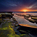 Tidepool Sunsets Print by Peter Tellone