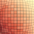 Tiled Sphere Poster by Wim Lanclus