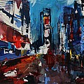 Times Square by Night Print by Elise Palmigiani
