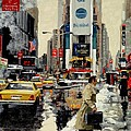 Times Square Print by Michael Swanson