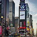 Times Square NYC and Yellow Cabs Poster by Melanie Viola