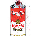 Tomato Spray Can Print by Gary Grayson