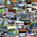 Topsail Island NC Collage  Print by Betsy A  Cutler