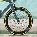Tour Down Under Bike Race Poster by Andy Scullion