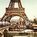 Tour Eiffel and Exposition Universelle Paris Poster by Nomad Art And  Design