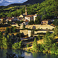 Town of Sisteron in Provence Poster by Elena Elisseeva