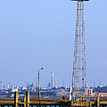Town Quay Navigation Marker and Fawley Print by Terri  Waters