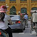 Traffic in downtown Hanoi Poster by Sami Sarkis