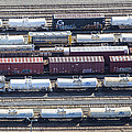 Train Wagons, South Portland Print by Dave Cleaveland