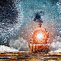 Traveling On Winters Night Print by Bob Orsillo