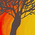 tree on fire Print by Abstract Digital