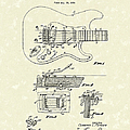 Tremolo Device 1956 Patent Art Poster by Prior Art Design