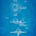 Tremulis Spaceship Hood Ornament Patent Art 1951 Blueprint Poster by Ian Monk