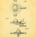 Tremulis Spaceship Hood Ornament Patent Art 1951 Poster by Ian Monk