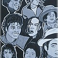tribute to michael jackson Print by Gary Niles