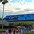 Tron Monorail At Walt Disney World Poster by Thomas Woolworth