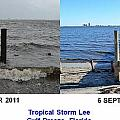 Tropical Storm Lee Difference a Day Makes Print by Jeff at JSJ Photography