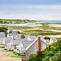 Truro Summer Cottages Print by Michelle Wiarda