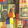 Tunisian Market Poster by August Macke
