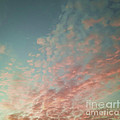 Turquoise and Peach Skies Print by Holly Martin
